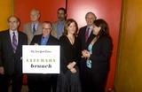 Amy Bloom Photo - K55124RMNY TIMES GREAT LITERARY BRUNCH AT TIMES CENTER ON W 41ST NEW YORK CITY 10-14-2007 L-R TOM PERROTTA CHRIS MATTHEWS ROBERT LIPSYTE ( HOLDING SIGN) STEPHEN L CARTER ANN PACHETT ALAN ALDA AND AMY BLOOMPHOTO BY RICK MACKLER-RANGEFINDER-GLOBE PHOTOSINC  2007