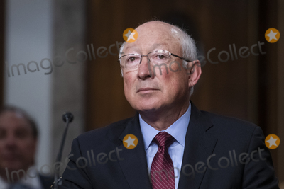 Photo - Kenneth Lee Salazar appears before a Senate Committee on Foreign Relations hearing for his nomination to be Ambassador to the United Mexican States in the Dirksen Senate Office Building in Washington DC Wednesday July 28 2021 Credit Rod Lamkey  CNPAdMedia