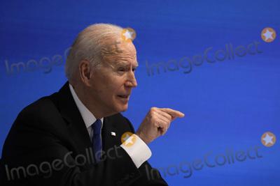 Photos From Joe Biden virtual event with Democratic Caucus -Washington
