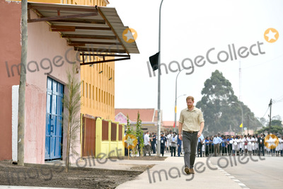 Princess of Wales Photo - 27092019 - Prince Harry Duke of Sussex walks on Princess Diana Street in Huambo Angola on day five of the royal tour of Africa The Duke is visiting the minefield where his late mother Diana Princess of Wales was photographed in 1997 which is now a busy street with schools shops and houses Photo Credit ALPRAdMedia