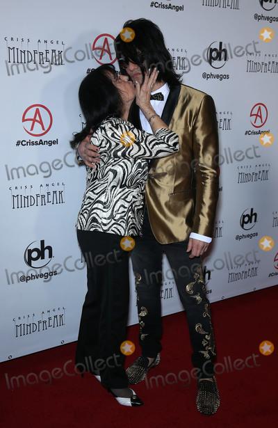 Photo - 19 January 2019 - Las Vegas NV -  Dimitria Sarantakos Criss Angel Criss Angel celebrates the official grand opening of MINDFREAK at Planet Hollywood Resort  Casino Photo Credit MJTAdMedia