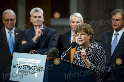 Photo - United States Senator Jeanne Shaheen (Democrat of New Hampshire) makes remarks after the vote on the motion to invoke cloture to proceed to the consideration of HR 3684 the INVEST in America Act on Capitol Hill in Washington DC on Wednesday July 28 2021 The vote to begin discussion of the bipartisan infrastructure bill agreed to by the White House was 67 to 32 If passed the bill would invest close to 1 trillion in roads bridges ports and other infrastructure without a major tax increaseCredit Rod Lamkey  CNPAdMedia