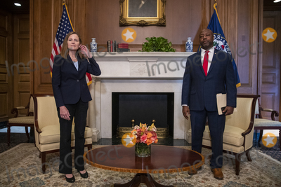 Photos From Amy Coney Barrett Capitol Hill Courtesy Call Tim Scott