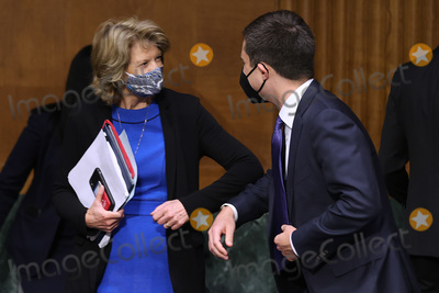 alaska Photo - WASHINGTON DC - APRIL 20 United States Senator Lisa Murkowski (Republican of Alaska) (L) greets US Secretary of Transportation Pete Buttigieg before a Senate Appropriations Committee hearing in the Dirksen Senate Office Building on Capitol Hill on April 20 2021 in Washington DC Members of President Bidens cabinet are testifying about the American Jobs Plan the administrations 23 trillion infrastructure plan that has yet to win over a single Republican in Congress Credit Chip Somodevilla   Pool via CNP