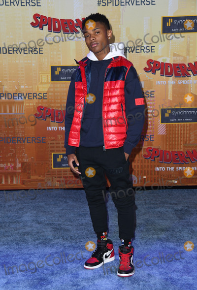 Amar Wooten Photo - 01 December 2018 - Westwood California - Amar Wooten Spider-Man Into The Spider-Verse Los Angeles Premiere held at The Regency Village Theater Photo Credit Birdie ThompsonAdMedia