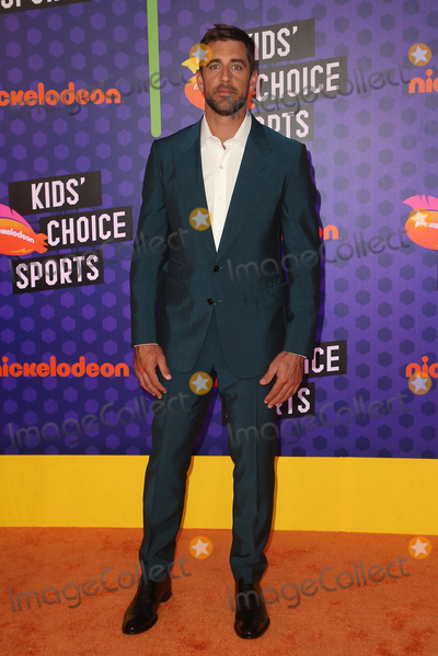 Aaron Rodgers Photo - 19 July 2018 - Santa Monica California - Aaron Rodgers Nickelodeon Kids Choice Sports Awards 2018 held at Barker Hangar Photo Credit Faye SadouAdMedia