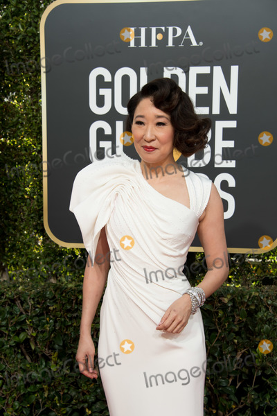 Photo - 06 January 2018 - Beverly Hills California - Sandra Oh 76th Annual Golden Globe Awards held at the Beverly Hilton Photo Credit HFPAAdMedia
