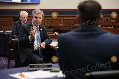 Photo - Federal Bureau of Investigation Director Christopher Wray testifies before the House Homeland Security Committee during a hearing on worldwide threats to the homeland in the Rayburn House Office Building on Capitol Hill September 17 2020 in Washington DC Committee Chairman Bennie Thompson (D-MS) said he would issue a subpoena for acting Homeland Security Secretary Chad Wolf after he did not show for the hearing An August Government Accountability Office report found that Wolfs appointment by the Trump Administration which has regularly skirted the Senate confirmation process was invalid and a violation of the Federal Vacancies Reform ActCredit Chip Somodevilla   Pool via CNPAdMedia