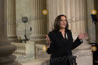 Photos From United States Senator Kamala Harris (Democrat of California) Television Interview