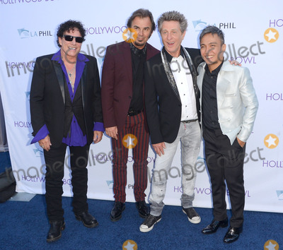 Arnel Pineda Photo - 20 June 2015 - Hollywood California - Neal SChon Jonathan Cain Ross Valory Arnel Pineda Hollywood Bowl opening night featuring Journey held at The Hollywood Bowl Photo Credit Birdie ThompsonAdMedia