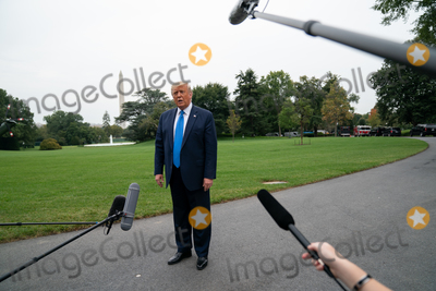 Photo - President Donald Trump Speaks to Members of the Media