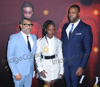 Photo - 19 March 2019 - New York New York - Jordan Peele Lupita Nyongo and Winston Duke at Universal Pictures US Premiere at the Museum of Modern Art in Midtown Photo Credit LJ FotosAdMedia