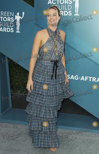 Photo - 19 January 2020 - Los Angeles California - Margot Robbie 26th Annual Screen Actors Guild Awards held at The Shrine Auditorium Photo Credit AdMedia