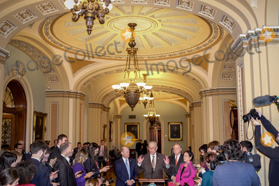 Photos From Senate Minority Leader Chuck Schumer Holds Press Conference On Captiol Hill