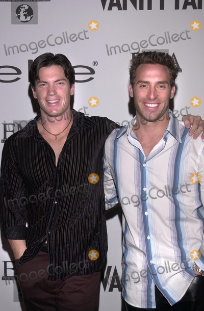 Brennan Swain Photo - Ron Frisbee and Brennan Swain at the Rock The Casbah bash thrown by Vanity Fair and Bebe to benefit the Environmental Media Association  Les Deux Cafes Hollywood 03-18-02