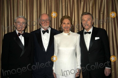 Army Archerd Photo - Army Archerd John Williams Cyd Charisse and Tony Martin at The Music Centers Distinguished Award Presentation Regent Beverly Wilshire Hotel Beverly Hills Calif 06-16-03