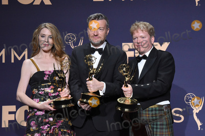 Annabelle Jones Photo - LOS ANGELES - SEP 22  Annabel Jones Charlie Brooker Russell McLean at the Emmy Awards 2019 PRESS ROOM at the Microsoft Theater on September 22 2019 in Los Angeles CA