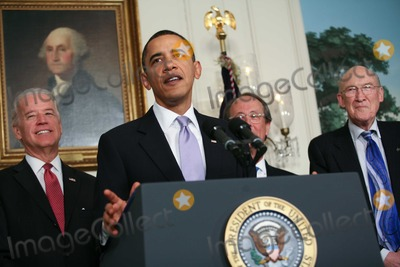 Alan Simpson Photo - United States President Barack Obama delivers remarks and then signs an executive order creating the bipartisan National Commission on Fiscal Responsibility and Reform on Thursday February 18 2010 The event was held in the Diplomatic Reception Room  Vice President Joe Biden was also on hand for the event as well as the co-chairs Erskine Bowles and Alan Simpson   Photo by Gary FabianoPool-CNP-PHOTOlinknet