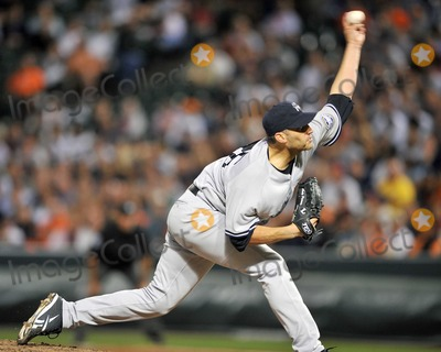 Andy Pettitte Photo - RESTRICTED NO NEW YORK OR NEW JERSEY NEWSPAPERS WITHIN A 75 MILE RADIUS OF NYCBaltimore MD - August 31 2009 -- New York Yankees pitcher Andy Pettitte (46) works in the seventh inning against the Baltimore Orioles at Oriole Park at Camden Yards in Baltimore MD on Monday August 31 2009  The Yankees won the game 5 - 1Digital Photo by Ron Sachs-CNP-PHOTOlinknet