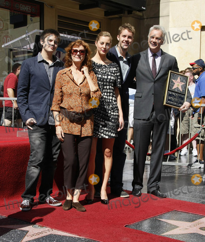 Photos From Tim Robbins, with family, celebrates his 50th Birthday with a star on 'The Hollywood Walk of Fame'. (Hollywood, CA)