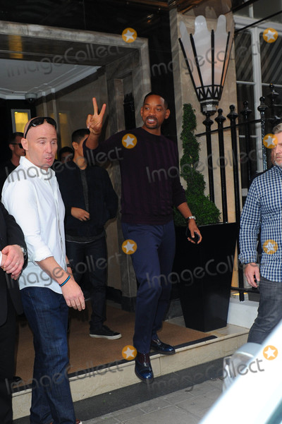 Photos From Cast Members of 'Suicide Squad' are seen in London, England