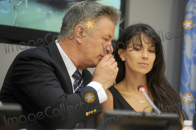 Hilaria Thomas  Photo - Photo by Dennis Van TinestarmaxinccomSTAR MAX2015ALL RIGHTS RESERVEDTelephoneFax (212) 995-119692115Actor and activist Alec Baldwin and wife Hilaria Thomas addresses a press briefing to announce the winners of the 2015 Equator Prize which will be awarded to 20 outstanding local and indigenous community initiatives that are advancing innovative solutions for people nature and resilient communities today at the United Nations Headquarters in New York City