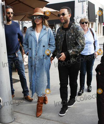 Photos From Chrissy Teigen and John Legend are seen in Los Angeles