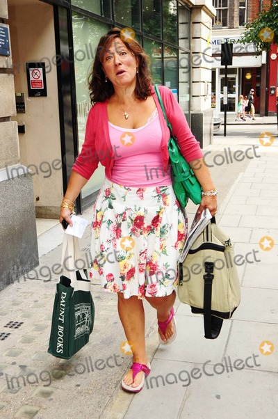 Arabella Weir Photo - EXCLUSIVE American born British comedian and writer Arabella Weir makes funny faces as she arrives at the studios of BBC Radio to promote her new book The Real Me is Thin London UK 090410Fees must be agreed prior to publication