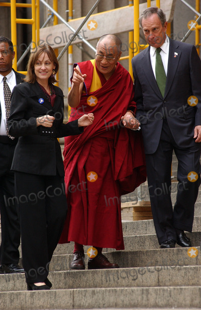 Daniel Patrick Moynihan Photo - NEW YORK SEPTEMBER 25 2005    Maura Moynihan daughter of the late US Senator Patrick Moynihan His Holiness the Dalai Lama and Mayor Michael Bloomberg attend the ceremony to present His Holiness the Dalai Lama with the key to the city The Dalai Lama visited the future site of the Daniel Patrick Moynihan Station on the site of the James A Farley Post Office