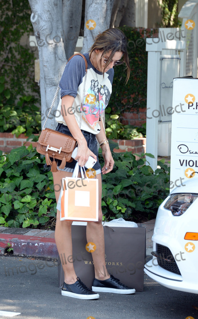 ACDC Photo - June 21 2016 LAModel Alessandra Ambrosio wears an ACDC shirt and short shorts as she goes shopping on June 21 2016 in LABy Line SolarACE PicturesACE Pictures IncTel 6467670430