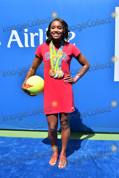 Arthur Ash Photo - August 27 2016 New York CityUS Olympic gold and silver medal winning swimmer Simone Manuel appeared at the 2016 Arthur Ashe Kids Day at the USTA Billie Jean King National Tennis Center on August 27 2016 in New York City By Line Curtis MeansACE PicturesACE Pictures IncTel 6467670430