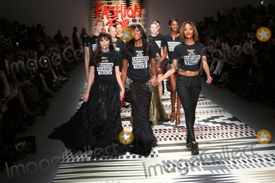 Annabelle Neilson Photo - Annabelle Neilson Naomi Campbell Jourdan Dunn at the LFW Fashion For Relief charity fashion show - catwalk held at Somerset house London 19022015 Picture by James Smith  Featureflash