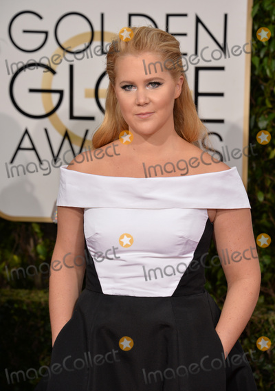 Photo - Amy Schumer at the 73rd Annual Golden Globe Awards at the Beverly Hilton HotelJanuary 10 2016  Beverly Hills CAPicture Paul Smith  Featureflash