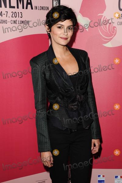 AUDREY TATOU Photo - Audrey Tatou arriving for the Therese Desqueyroux premiere at the Curzon Soho London
