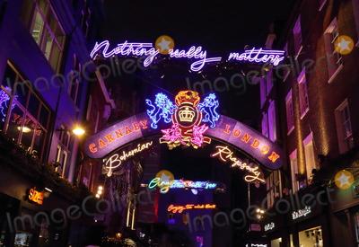 Photo - London UK Christmas Lights in  Carnaby Street London  16 November 2018 RefLMK73-S1931-171118 Keith MayhewLandmark Media WWWLMKMEDIACOM