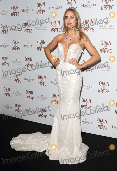 Photo - London UK  Kimberley Garner  at the Chain Of Hope Ball at Old Billingsgate Lower Thames Street London 16 November 2018 RefLMK73-S1930-171118Keith MayhewLandmark Media WWWLMKMEDIACOM