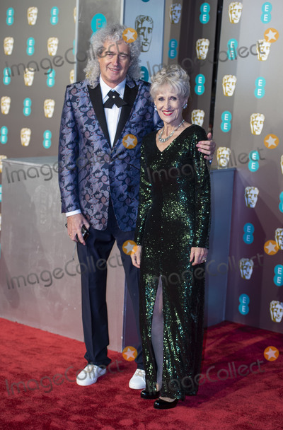 Anita Dobson Photo - London UK Anita Dobson and Brian May  at EE British Academy Film Awards at the Royal Albert Hall Kensington London on Sunday February 10th 2019Ref LMK386-S2120-110219Gary MitchellLandmark Media WWWLMKMEDIACOM