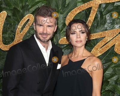 Photo - London UK David and Victoria Beckham at the The Fashion Awards 2018 at the Royal Albert Hall Kensington London on December 10th 2018Ref LMK73-J4027-111218Keith MayhewLandmark Media WWWLMKMEDIACOM