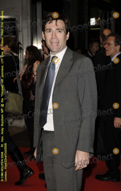 Andy Burnham Photo - London UK British Labour party  MP  Andy Burnham who is also the Secretary of State for Culture  Media and Sport at the screening of  new film Genova  Odeon West End London Film Festival 22nd October 2008 Can NguyenLandmark Media
