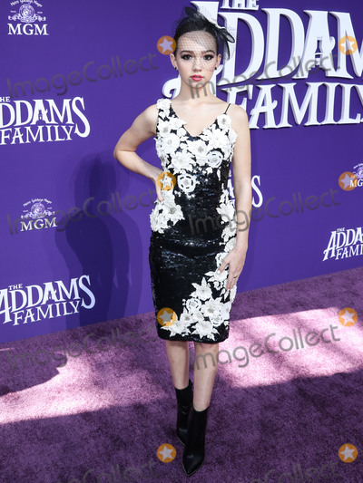 Alice  Olivia Photo - CENTURY CITY LOS ANGELES CALIFORNIA USA - OCTOBER 06 Actress Ruby Jay wearing an Alice  Olivia dress with Aldo shoes and rings arrives at the World Premiere Of MGMs The Addams Family held at the Westfield Century City AMC on October 6 2019 in Century City Los Angeles California United States (Photo by Xavier CollinImage Press Agency)