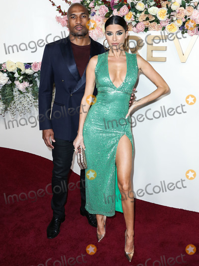Nicole Williams Photo - HOLLYWOOD LOS ANGELES CALIFORNIA USA - NOVEMBER 15 Larry English and Nicole Williams English arrive at the 3rd Annual REVOLVEawards 2019 held at Goya Studios on November 15 2019 in Hollywood Los Angeles California United States (Photo by Xavier CollinImage Press Agency)