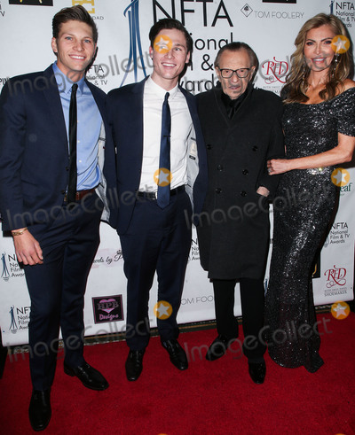 Larry King Photo - LOS ANGELES CA USA - DECEMBER 05 Chance Armstrong King Cannon Edward King Larry King Shawn King arrive at the 2018 National Film And Television Awards Ceremony held at the Globe Theatre on December 5 2018 in Los Angeles California United States (Photo by Image Press Agency)