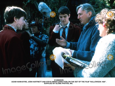 Adam Hann-Byrd Photo - Adam Hann-byrd Josh Hartnett and Steve Miner (Director) on the Set of the Film Halloween H20 Supplied by Globe Photos Inc