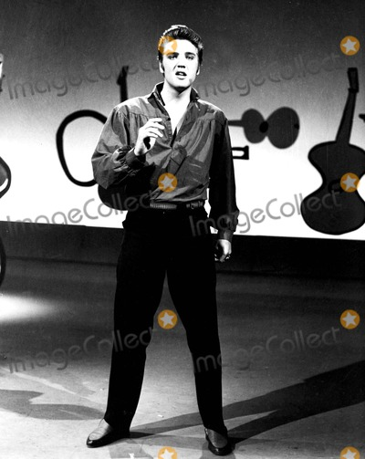 Photo - Elvis Presley on the Ed Sullivan Show 91956 1950s Supplied by DmGlobe Photos Inc