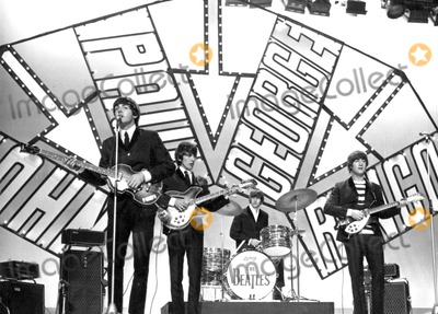 Photo - The Beatles Appear on Blackpool Night Out Show 07-19-1964 Photo by Globe Photos Paul Mccartney George Harrison Ringo Starr John Lennon