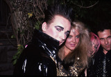 Boy George Photo - Boy George with Cornelia Guest friend and R Corey Hay Attending Birthday party in his honor at Friends apartment on the Upper West Side in New York CityJune 14 1985Credit McBrideface to face