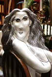 Al Hirschfeld Photo - Hirschfeld Three dimensional drawings of Sarah Jessica Parker photographed in New York City on November 19 2013Al Hirschfeld whose legendary quill pen captured virtually every well-known performing artist of the 20th century will be celebrated by Henri Bendel The Hirschfeld Spectacular will be on display throughout the Henri Bendel flagship store until January 2 2014 Credit McBrideface to face