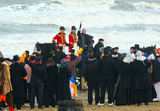 Huub Stapel Photo - the historic landing of Prins Willem Frederik (Actor Huub Stapel) at the celebration of the 200th anniversary of the Kingdom of the Netherlands on the beach of ScheveningenIn the years 1813-1815 the foundation was laid for the Dutch Kingdom PPENieboerCredit PPEface to face- No Rights for Netherlands -