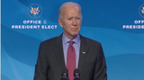 Queen Photo - United States President-elect Joe Biden takes questions from the press after making remarks introducing key members of his economic and jobs team from the Queen Theatre in Wilmington Delaware on Friday January 8 2021 Credit Biden Transition TV via CNPAdMedia