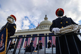 US Army Photo - WASHINGTON DC - JANUARY 20 Members of the US Army Band Pershings Own looks on ahead of the inauguration of US President-elect Joe Biden on the West Front of the US Capitol on January 20 2021 in Washington DC  During todays inauguration ceremony Joe Biden becomes the 46th president of the United States Credit Tasos Katopodis  Pool via CNPAdMedia